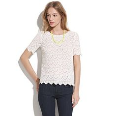 madewell: scallop lace top.
