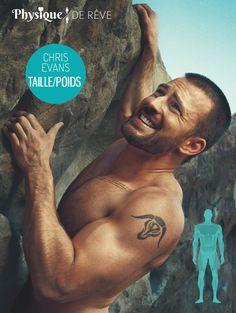 Chris Evans taille et poids morphologie muscles Fiche physique de rêve