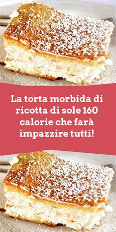 Sweets Recipes, Baking Recipes, Cake Recipes, Ricotta, Healthy Cake, Healthy Desserts, Confort Food, Torte Cake, Best Food Ever