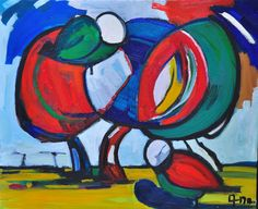 Original abstract painting    LOVE     Birds  by ARTGALERYPAINTING, $180.00