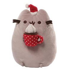 This Pusheen Christmas Snackable soft toy forms part of the Gund plush soft toys suitable for ages 1 year+. Here the Christmas themed Pusheen plush satisfies her sweet tooth. Pusheen Christmas, Christmas Cats, Christmas Holiday, Christmas Morning, Family Christmas, Stuffed Animal Cat, Cute Stuffed Animals, Chat Pusheen, Pusheen Cat Plush