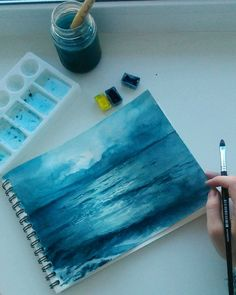 Watercolor Painting Tips for Absolute Beginners with Example, . - Watercolor Painting Tips for Absolute Beginners with Example, … Watercolor Painting Tips for Absolute Beginners with Example, Painting Tips, Painting & Drawing, Painting Canvas, Canvas Art, Sea Drawing, Painting Lessons, Drawing Tips, Drawing Ideas, Painting Inspiration