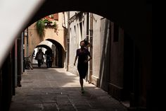 Valentina (a local Personal Trainer) was one of the many runners on the floating city of Chioggia. The alleyways and tunnels felt like Venice, but without all the tourists.