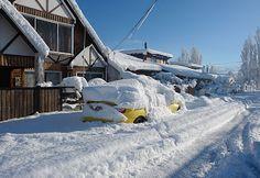 Coyhaique, Chile | Fuerte nevazon en la ciudad de Coyhaique,Chile