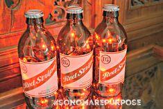 Red Stripe Beer Bottle Light Jamaican Lager 3 Pack (Red or White lights) Bar Light, Red Stripe Lamp, Red Stripe Light, Red Stripe Bottle Beer Bottle Lights, Lighted Wine Bottles, Sonoma County California, Tiki Decor, Black Vase, Corona Beer, Cool Lighting, White Light, Light Colors