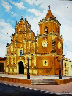 Mario Jarquín Escobar - Pintor Artístico: Iglesias - Arquitectura