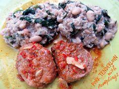 Laka kuharica - Easy Cook: Svinjski file s okruglicama od kruha, špinata i graha :: Pork tenderloin with bread, spinach and white bean dumplings