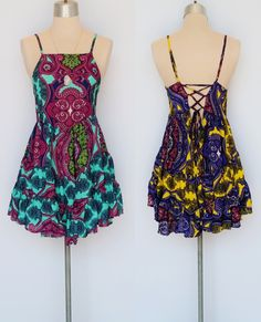 Tiered sundress with open back. www.shopmudra.com