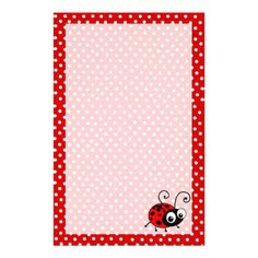 cute ladybug writing paper custom stationerystationery setwriting paper letter