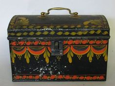 A painted and paint-decorated tinware document box http://www.artfact.com/archives