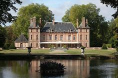 Château de Saint-Georges-Motel | Eure, France. For SALE: some 45 miles west of Paris and once home to American heiress Consuelo Vanderbilt Balsan and her husband Col Jacques Balsan. Occupied by Nazis during the invasion of France. $16.4 MILLION