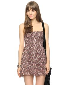 ditsy floral bustier dress