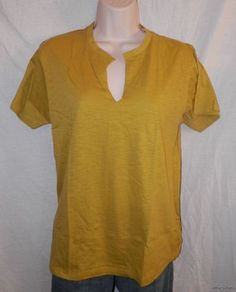 NEW NWT NATION LTD TOP OSFA S M L XL Anthropologie CHARTREUSE Green Notched Tee