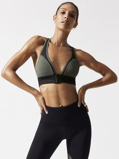 49e66d1c534fb Plunge in Green by Boom Boom Athletica from Carbon38 Plunge Bra