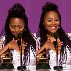 My BFF did it #Back2Back Grammy wins!!  #Lalahholic Well deserved!! Lalah Hathaway!!