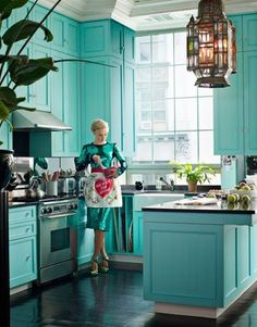 Get Inspired: A Rainbow of Colorful Kitchens | Apartment Therapy