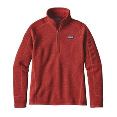 I think I'd like size Medium   W'S BETTER SWEATER 1/4 ZIP, Ramble Red (RMBR)