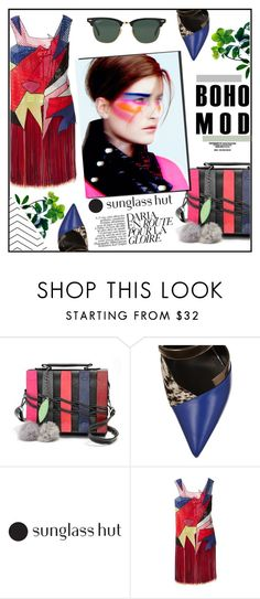 """""""Shades of You: Sunglass Hut Contest Entry"""" by misskarolina ❤ liked on Polyvore featuring Fendi, Christopher Kane, Ray-Ban and shadesofyou"""