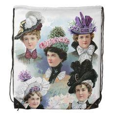 Vintage Ladies Fashion Victorian Backpack