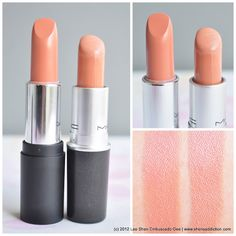 MAC peachstock / dupe . I want to try a peachy lipstick...