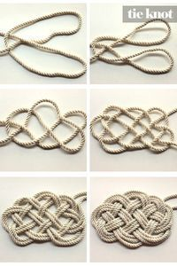 DIY Nautical Rope Necklace can we use this DIY to make a rug?