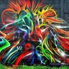 Kalees Kalees, Streetart #Kalees #Streetart #Lion #Awesome