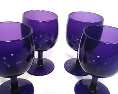 Purple Glass, Handmade Items, Handmade Gifts, Marketing And Advertising, Wine Glass, Unique Gifts, Unique Jewelry, Vintage, Etsy