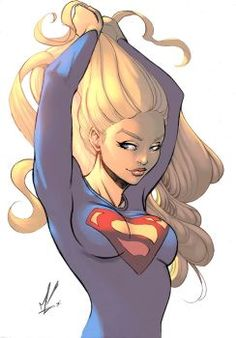 Supergirl color by logicfun on DeviantArt Heros Comics, Dc Comics Girls, Comic Art Girls, Dc Comics Art, Marvel Girls, Marvel Vs, Dc Heroes, Comic Book Characters, Comic Books Art