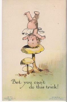 Vintage Kewpie postcard - Rose O'Neill