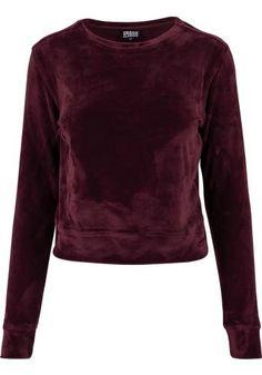Ladies Short Velvet Crew - Sweatshirts van Urban Classics