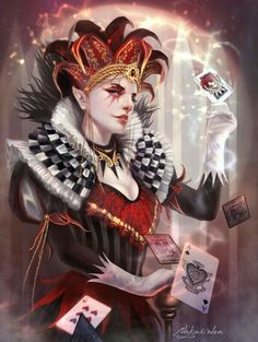 Harlequin: ~ Nakai Wen Dark Fantasy Art, by Kirsi Salonen. Dark Fantasy Art, Fantasy Kunst, Dark Art, Fantasy Women, Character Inspiration, Character Art, Design Inspiration, Beste Gif, Pierrot Clown
