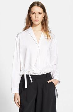 Tibi+Satin+Poplin+Oversize+Shirt+available+at+#Nordstrom
