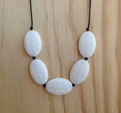 5 Pendant Necklace White, $30.00