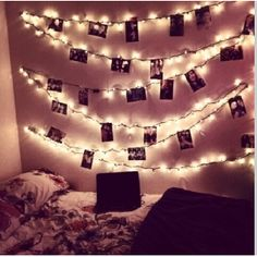 cute bedroom! I wanna do the idea with the pics in my bedroom :)