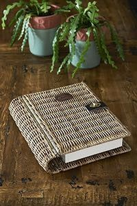 Keep all your precious stuff in the Rustic Rattan Book Safe. The book is made in Rattan and this is one of the natural materials often used by Riviera Maison. Newspaper Basket, Newspaper Crafts, Paper Weaving, Weaving Art, Willow Weaving, Basket Weaving, Rattan, Basket Crafts, Basket Decoration