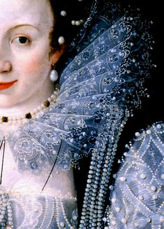Marcus Gheeraerts II, Portrait of an unknown lady, (detail)