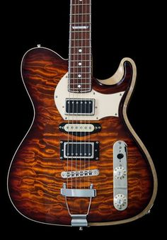LaRose Guitars Hollowboy Quilt/Koa Curly Movenghi Neck No F-hole