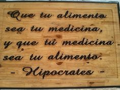 Hipocrates Bamboo Cutting Board, Frases, Natural Medicine, Plant Pots, Exercises, Food Items, Health, Hipster Stuff
