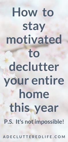 Want this year to be THE year you finally declutter your home? Click through to learn 7 tips to help you get started (if you haven't already), keep going, and make real progress - without pulling everything out and making a bigger mess Konmari-style! Deep Cleaning Tips, House Cleaning Tips, Cleaning Solutions, Spring Cleaning, Cleaning Hacks, Cleaning Checklist, Routine, Clean Baking Pans, Cleaning Painted Walls
