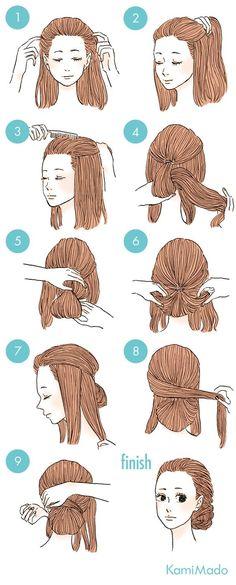hairstyle tutorial updo braids hair