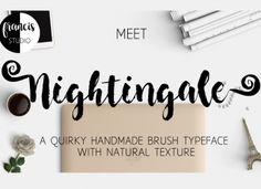 Nightingale Brush Font