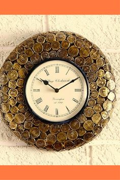 Unravel india brass coin clock