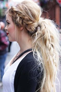 Date-Night Ideas of a Braided Ponytail to Try Out ★ See more: http://lovehairstyles.com/ideas-braided-ponytail/