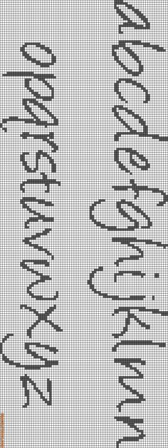 Cross-stitch or Needlepoint Alphabets Lowercase