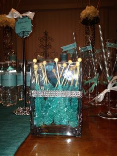 Rock candy Tiffany & Co themed bridal shower