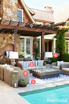Take these 4 indoor decorating moves outside to make your patio as comfortable as your living room.