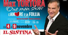 Max Tortora dal 4 al 9 Novembre al Teatro Sistina   Radio Web Italia