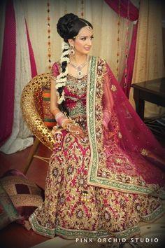 Punjabi Bride Pinkorchidstudio.com