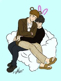 Sleep like a Winter Bear. Bts Fans, Taekook, Fanart, Sleep, Bear, Winter, Cute, Anime, Winter Time