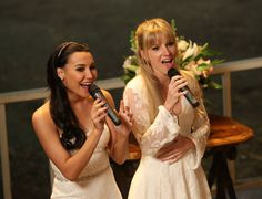 """Santana and Brittany in """"A Wedding"""""""
